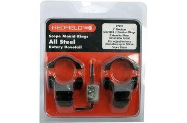 Redfield 1inch Rotary Dovetail Steel Rings, Medium, Black 47221