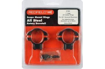 Redfield Mounts .22 Cal Rimfire Steel Rifle Scope Rings - 1in, High, .22, Matte 47285