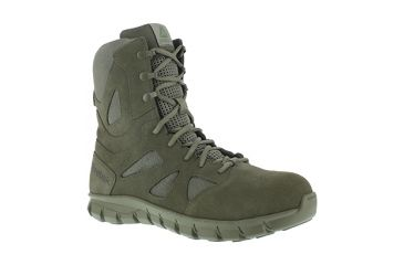 Reebok Sublite Cushion 8 inch Composite Toe Military Boot w Side Zip - Mens fea7fdd57