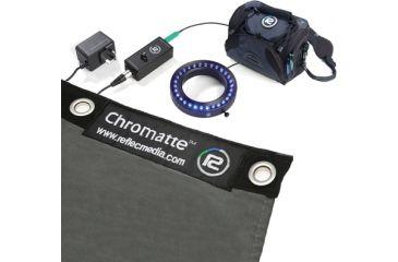 Reflecmedia12ft x 7ft Chromatte Curtain with Small Blue LiteRing Kit RM-1121WSB