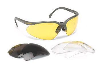 Remington T-63 Clear/Smoke/Amber Safety Glasses w/ case
