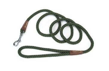 Remington Sporting Dog Braided Rope Leash, Green, Snap, 6 ft. R0206-GRN06