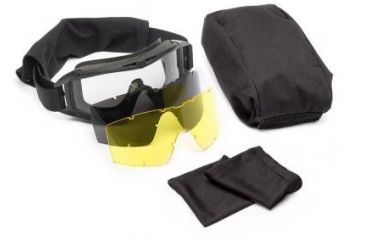 Revision Desert Locust Deluxe US Military Goggle System, Black 4-0309-9500