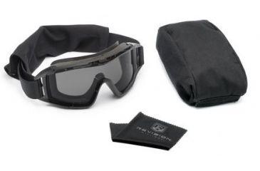 Revision Desert Locust Extreme Weather Goggles, Black, Basic Kit w/ Smoke Lens 4-0309-0202