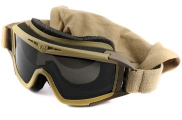 Revision Desert Locust Extreme Weather Goggles, Tan, Basic Kit w/ Smoke Lens 4-0309-0219
