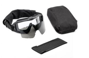 Revision Desert Locust Fan Goggles, Black - Essential Kit w/ 2 Lenses 4-0309-0251