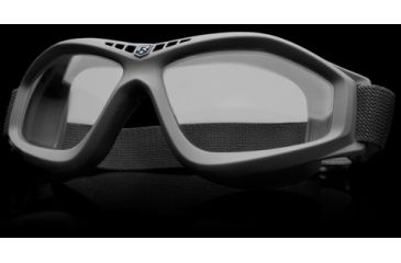 Revision Military Eye Wear Bullet Ant Ballistic Goggles Basic Kit - Clear Lens, Black Frame 4-0045-0111