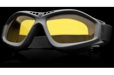 Revision Military Eyewear Bullet Ant Tactical Goggle Basic Kit - Yellow High-Contrast Lens, Black Frame 4-0045-0131