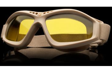 Revision Military Eyewear Bullet Ant Tactical Goggle Basic Kit - Yellow High-Contrast Lens, Tan Frame 4-0045-0138