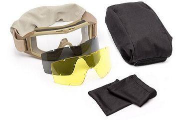 Revision Eyewear Desert Locust Ballistic Goggle Essential Kit, Tan