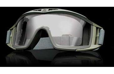 Revision Eyewear Desert Locust Tactical Goggle - Green Frame, Clear Lens