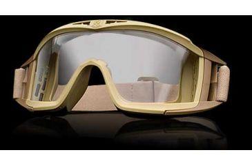 Revision Desert Locust Basic Goggles - Tan Frame, Clear Lens