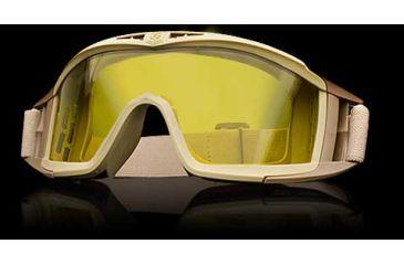 Revision Desert Locust Basic Goggles - Tan Frame, High-Contrast Yellow