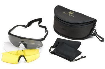 Revision Sawfly Eyeshield Deluxe Kit - Large Black Frame, Clear, Solar Yellow, Smoke Lenses 400760111