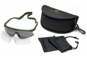 Revision Sawfly Ballistic Eyeshield Essential Kit - Regular Green Frame 400760441