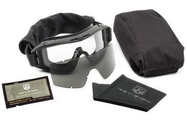 Revision Eyewear Desert Locust Goggles - US Military Goggle Kit - black frame