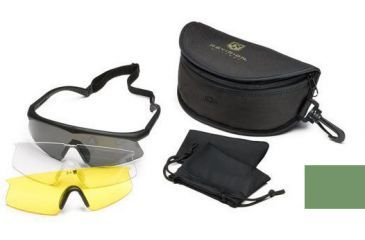 Revision Sawfly Eyeshield Deluxe Kit - Large Green, Clear, Solar Yellow Lenses 400760161