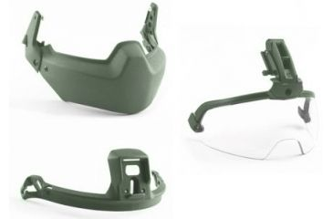 Revision Viper Modular Head Protection 3 Piece System, Foliage Green, Small 4-0509-5018