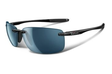 Revo Descend N Polished Black Nylon Frame, Water Lens Sunglasses - RE4059-03