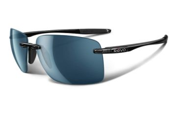 Revo Descend W Polished Black Nylon Frame, Water Lens Sunglasses - RE4069-03