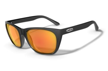 Revo Grand Sixties Polished Black Nylon Frame, Classic Orange Lens Sunglasses - RE4052-02