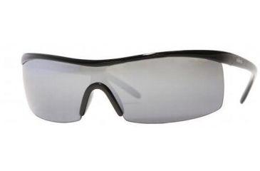 REVO RE4034-803-T2-0138 Sunglasses Shiny Metallic Grey Frame / Brown Blue Polarized Mirror 138 mm Lenses