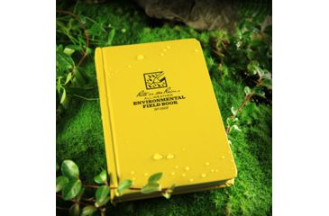 Rite in the Rain BOUND BOOK - FABRIKOID COVER - ENVIRONMENTAL, Yellow, 4 3/4 x 7 1/2 550F