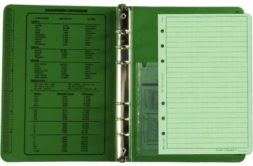 "Rite in the Rain FIELD BINDER - 1/2"" - GREEN, Green, 5 5/8 x 7 1/2 9200"