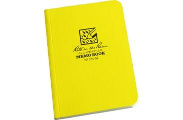 Rite in the Rain FIELD FLEX POCKET MEMO - UNIVERSAL, Yellow, 3 1/2 x 5 374-M