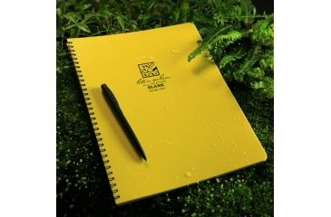 Rite in the Rain MAXI-SPIRAL NOTEBOOK - BLANK, Yellow, 8 1/2 x 11 333-MX