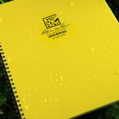 Rite in the Rain MAXI-SPIRAL NOTEBOOK - JOURNAL, Yellow, 8 1/2 x 11 393-MX