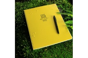 Rite in the Rain MAXI-SPIRAL NOTEBOOK - LEVEL, Yellow, 8 1/2 x 11 313-MX