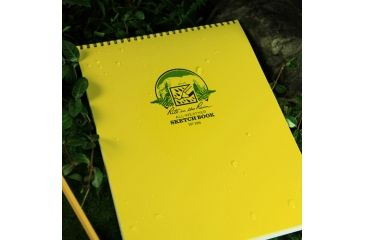 Rite in the Rain MAXI-SPIRAL NOTEBOOK - SKETCH, Yellow, 8 1/2 x 11 186