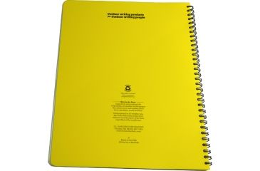 Rite in the Rain MAXI-SPIRAL NOTEBOOK  - UNIVERSAL, Yellow, 8 1/2 x 11 373-MX