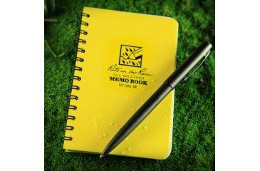 Rite in the Rain MINI-SPIRAL MEMO NOTEBOOK, Yellow, 3 1/4 x 5 393-M