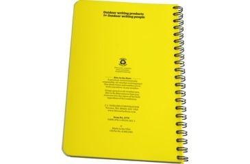 Rite in the Rain SPIRAL NOTEBOOK - OUTDOOR, Yellow, 4 5/8 x 7 1773