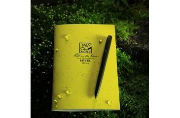 Rite in the Rain STAPLED NOTEBOOK - LEVEL, Yellow, 4/5/8 x 7 311