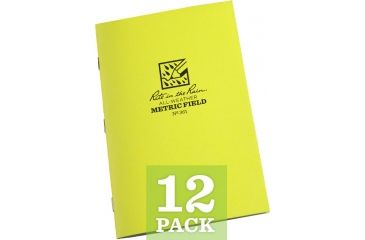 Rite in the Rain STAPLED NOTEBOOK - METRIC FIELD, Yellow, 4/5/8 x 7 361