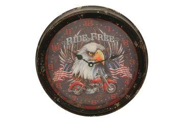 River's Edge 15in. Diameter Metal Clock, Motorcycle 195112