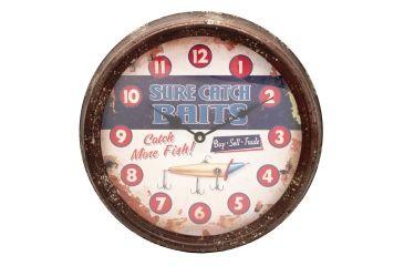 River's Edge 15in. Diameter Metal Clock, Sure Catch 195115