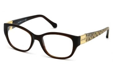Roberto Cavalli RC0754 Eyeglass Frames - Shiny Dark Brown Frame Color