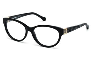 Roberto Cavalli RC0756 Eyeglass Frames - Shiny Black Frame Color