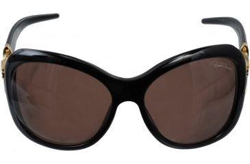 Roberto Cavalli Tenaro Sunglasses Shiny Black Gold Frame RC377S front