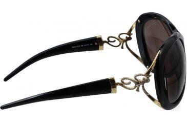 Roberto Cavalli Tenaro Sunglasses Shiny Black Gold Frame RC377S side