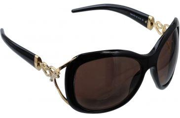 Roberto Cavalli Tenaro Sunglasses Shiny Black Gold Frame RC377S