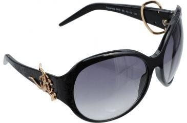 Roberto Cavalli Penelope Sunglasses Black Frame, Dark Gray Lenses RC395S-B5