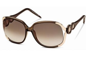 Roberto Cavalli RC589S Sunglasses - Shiny Dark Brown Frame Color, Gradient Brown Lens Color