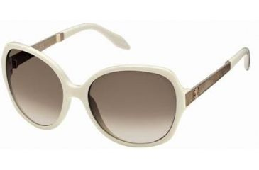 Roberto Cavalli RC649S Sunglasses - Ivory Frame Color, Gradient Brown Lens Color