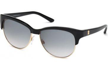 Roberto Cavalli RC652S Sunglasses - Shiny Black Frame Color, Gradient Smoke Lens Color