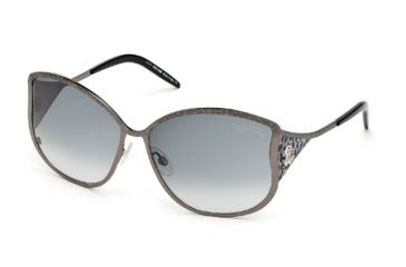 Roberto Cavalli RC671S Sunglasses - Shiny Gun Metal Frame Color, Gradient Smoke Lens Color